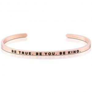 Mantra Bracelet - 'Be True. Be You. Be Kind' - Schmuck - Roségold