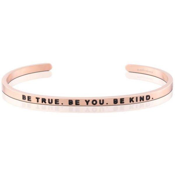 Mantra Bracelet - 'Be True. Be You. Be Kind' - Schmuck - Roségold