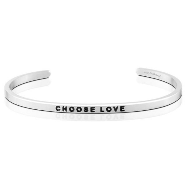 Mantra Bracelet 'Choose Love' - Schmuck - Silber