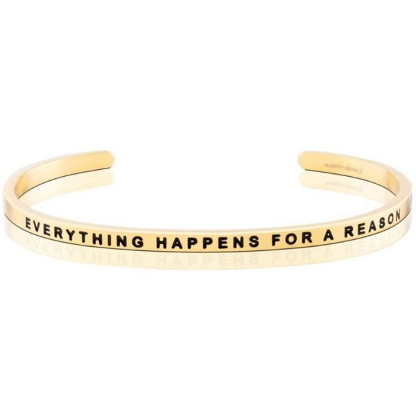 Mantra Bracelet 'Everything Happens For A Reason' - Schmuck - Gold