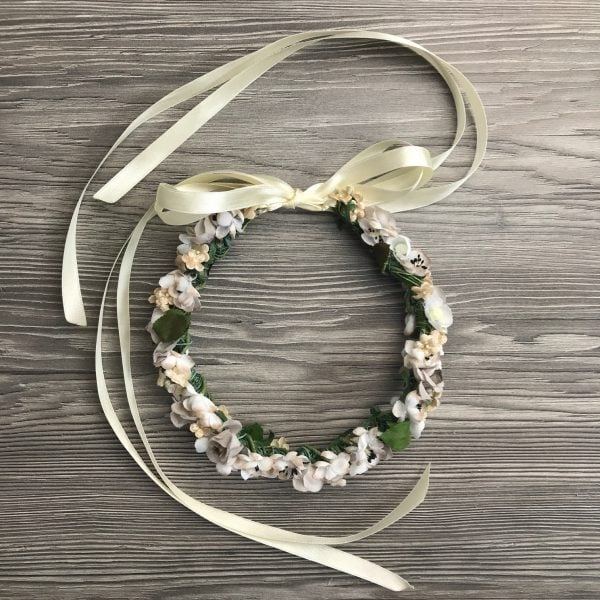 Flowercrown/Blumenkranz 'White Love' - Kopfschmuck