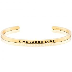 Mantra Bracelet 'Live Laugh Love' - Schmuck - Gold