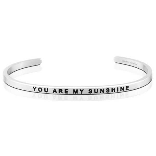 Mantra Bracelet 'You Are My Sunshine' - Schmuck - Silber
